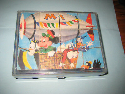 Micky Maus Bilderwürfel Set, Made in Germany, 6 verschiedene Motive