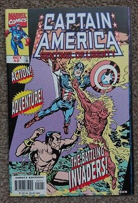 Captain America Sentinel of Liberty #2 Marvel Comics 1998 Invaders
