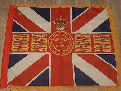 The Seaforth Highlanders 1st Battalion Queens colours flag