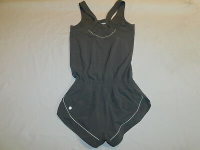 5b45ed891987 Lululemon Speedy Runsie Romper Suit Shorts Top Swift Wicking Gray Women s 4