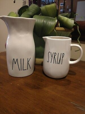 Rae Dunn by Magenta LL Syrup Pitcher and Milk Carafe/Jug