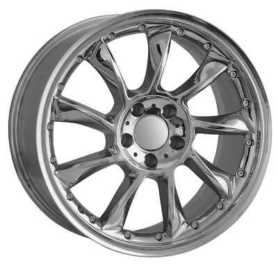 19 Inch Staggered Mercedes Chrome Replica Wheels Hollander 65342 (590)