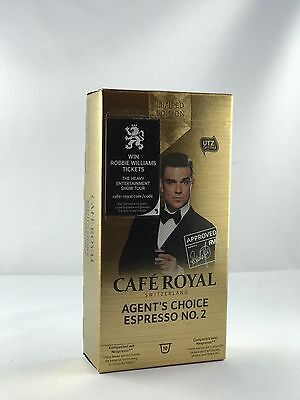 10 Cafe Royal Kapseln Nespresso Limited Edition Agents Choice Gold 6,78€/100g