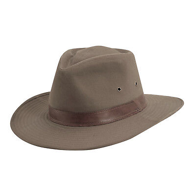 a7f713114 MENS DORFMAN PACIFIC Washed Twill Outback Hat Size Medium MC68