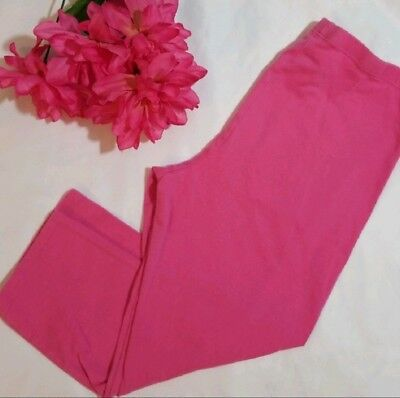 6f0330f582aca Capri Leggings Girls Pink Cotton Stretch Capri Pants Faded Glory Size L  10 12