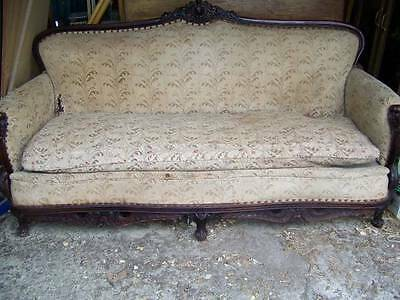 Antique Sofa Couch Hand Carved French Provincial Eighteenth Century
