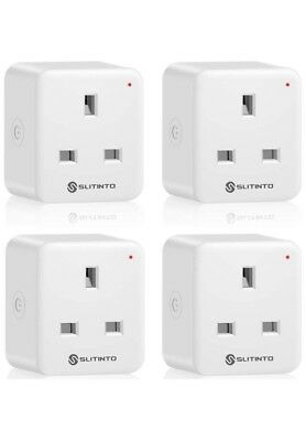 Slitinto WiFi Smart Plug Socket Mini Smart Outlet with Energy Monitoring 4 Pack
