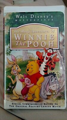The Many Adventures of Winnie the Pooh (VHS, 1996) Complete, Great Condition