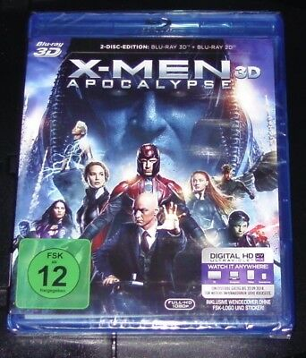X-Men Apocalypse 3D Blu-Ray + 2D Faster Shipping New & Original Packaging