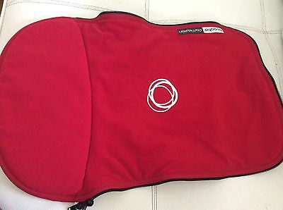 Bugaboo Cameleon Stroller Bassinet Apron Red Fleece Baby Carry Cot Cover new
