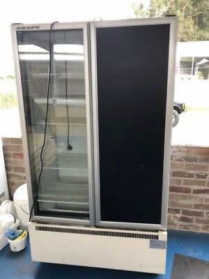 Used Skope 2 door commercial glass upright display refrigerator