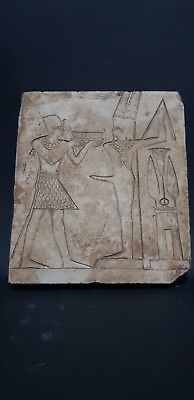 ANCIENT EGYPTIAN ANTIQUES Extremely Rare Stone Stela Relif 2nd millennium BC