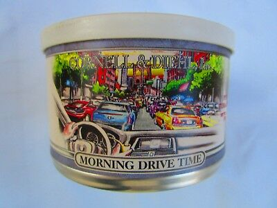 C & D MORNING DRIVE TIME SEALED Pipe Tobacco Tin 2 Oz FREE SHIPPING WORLDWIDE