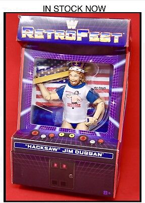 WWE Elite RetroFest HACKSAW Jim Duggan Action Figure Retro MATTEL IN STOCK NOW!