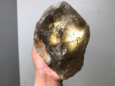 Aaa Quality Transparent Gem Smoky Quartz Point Rough - 5.5 Lbs From India