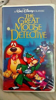 The Adventures of the Great Mouse Detective (VHS, 1992) Complete, Great Conditio