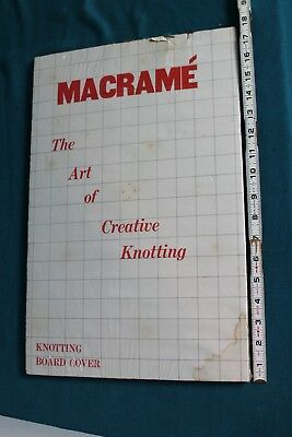 "Vintage Macrame Pin Board Knot Crafts 11 1/2"" x 18"" Collectible"