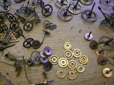Assortment French Clock Gears Ect