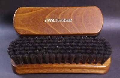 Large shoe brush - 100 % black horse hair - Made in Germany