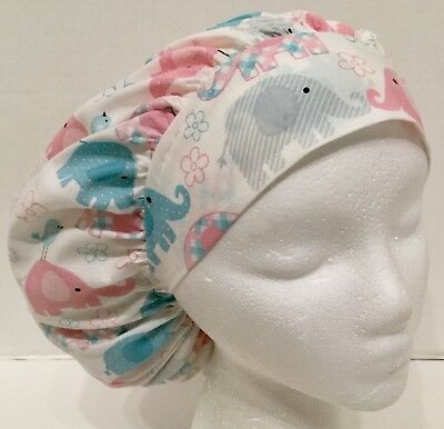 817d925046b ELEPHANT PRINT SIZE Large Medical Bouffant Scrub Cap Surgery Hat ...