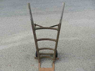 Vintage Industrial Hand Cart Truck Barrel Dolly Wood & Metal Railroad Delivery