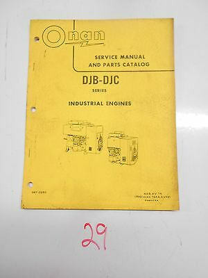 Onan Djb Djc Diesel Engine Service Manual & Parts Catalog 967-0250