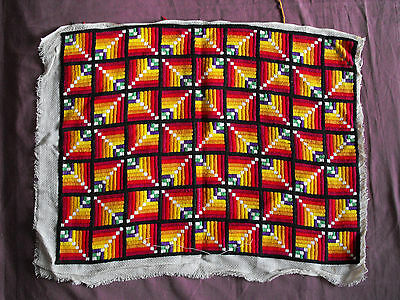 #1320  Beautiful  Vintage Hand Embroidered Tapestry  60cm/46cm(24''x18'')