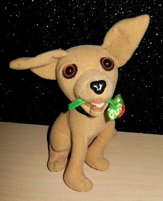 "Applause Taco Bell Talking Dog 6"" Stuffed Animal Plush Chihuahua Rose in Mouth"