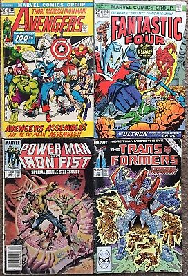 Lot Avengers #100 Fantastic Four #150 Marvel Anniversary Issues 2 More Free S&h!