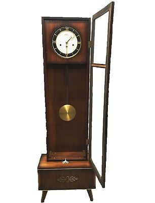 Vintage ~ Rolls Westminster Art~Deco Grandfather Glass Front Clock
