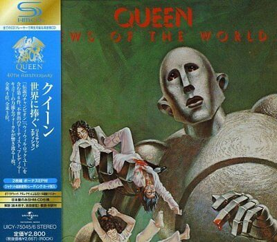 QUEEN News Of The World JAPAN CD UICY-75045/6 2011 OBI