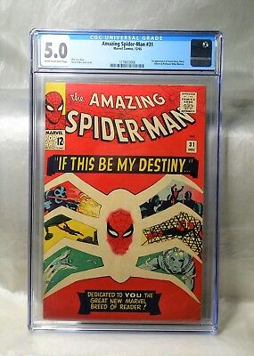 Reduced Price, Only Today!! Amazing Spider-Man 31 Cgc 5.0 1St Gwen! Marvel 1965.