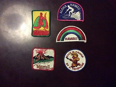 5 Hawaii Assorted Patches