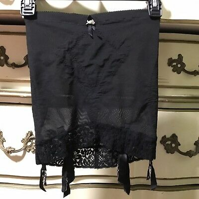 Olga Suddenly Slim Vintage Open Bottom Girdle 6 Garters ~ M