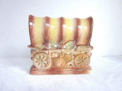1950s Western Covered Wagon Ceramic Night Light by Tilso Retro Decor