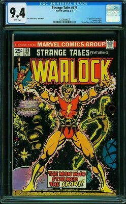 Reduced Price, Only Today!! Strange Tales 178 Cgc 9.4 Wp. Warlock. 1St Magus.