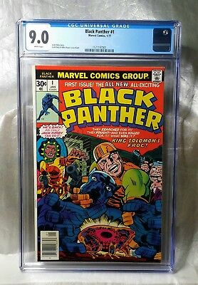 Reduced Price, Only Today!! Black Panther 1 Cgc 9.0 White. Marvel 1977. Kirby.