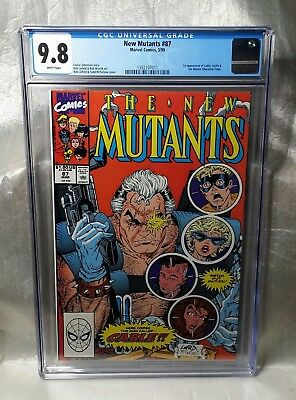 Reduced Price, Only Today!! New Mutants 87 Cgc 9.8 White. 1St Cable. Deadpool