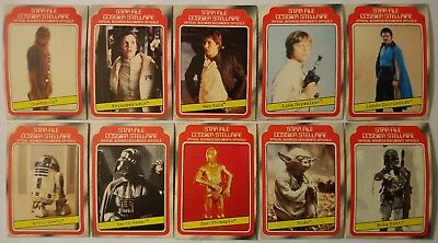 1980 O Pee Chee Series 1 Star Wars Lot 10 Cards Leia Skywalker Fett Lando + Opc