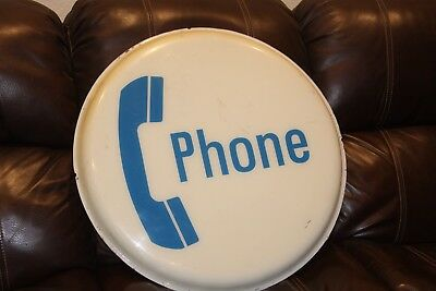 "Vintage 24"" Single Sided of a Dual Illuminated Phone Booth Sign"