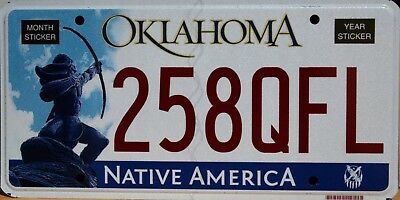 USA Number Licence Plate OKLAHOMA NATIVE AMERICA