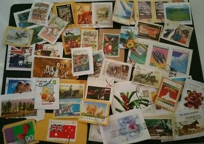 35 Grams Of High Value Australian Stamps On Paper (lot 48) Free Postage