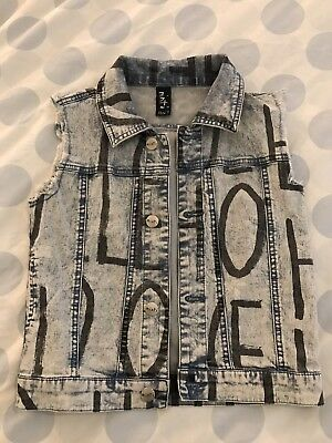 Minti Boys Denim Vest. Size 7. Near New Condition.