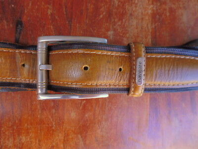 NAVIGARE MADE IN ITALY MEN'S BROWNLEATHER VINTAGE BELT. 98 cms in LENGTH.