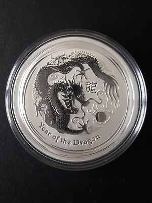 AUSTRALIA DRAGON 2012 1/2 oz 999 pure SILVER COIN in air-tite