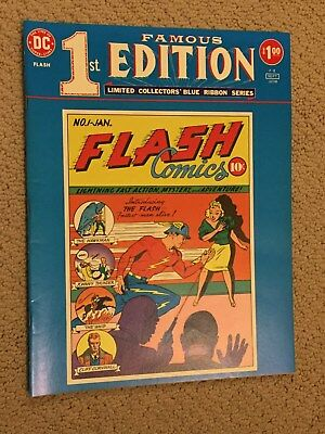 Flash Comics #1 Large Format Reprint (1st app of Flash from 1940!!)