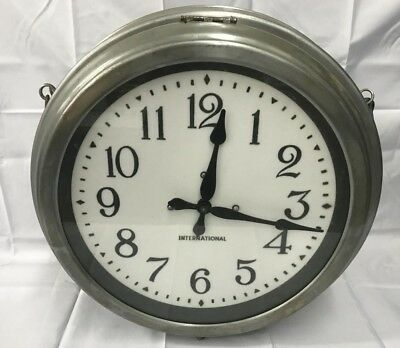 Vintage industrial double sided clock