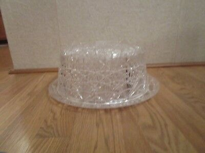 Vintage Plastic Cake Plate And Cover