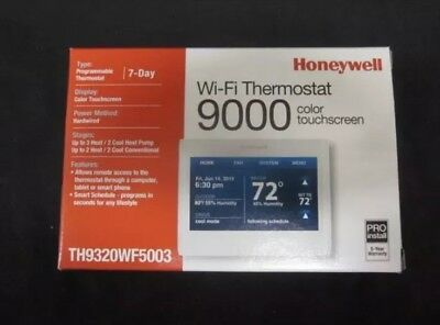 Honeywell Wifi 9000 Color Touchscreen 3H/2C Thermostat - Th9320Wf5003