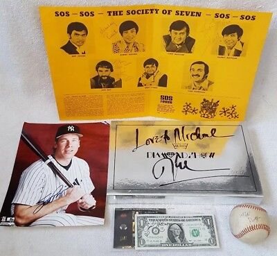 Large Lot of Authentic AUTOGRAPHS Signatures Musicians Singers Baseball Signed